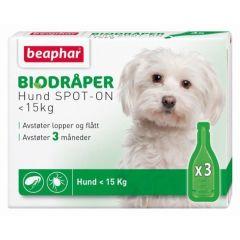 Beaphar Bio Flåttdråper hund opptil 15kg