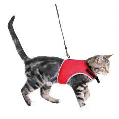 Soft sele til katt med line