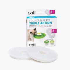 Catit Triple Action Filter til Flower Fountain 2stk