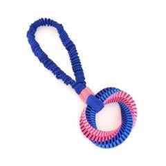 Canem flettet nylonring med strikkhåndtak 40cm blå
