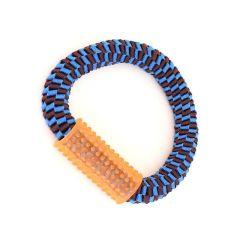 Canem nylonring med gummihåndtak 25cm blå
