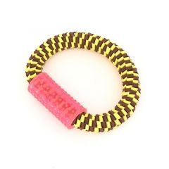 Canem nylonring med gummihåndtak 25cm gul