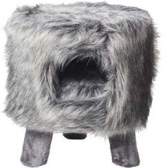 Kattemøbel Huebii fluffy grå L