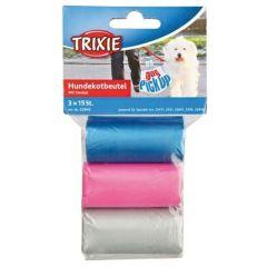 Bæsjeposer med håndtak i mix farge 45 stk
