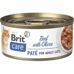 Brit Care Cat Paté Storfe & Oliven 70g