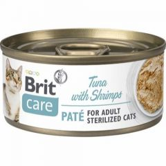 Brit Care Cat Tunfisk & Reker Sterilized 70g