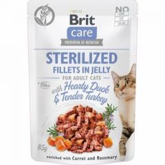 Brit Care Cat Filet Jelly And & Kalkun sterilized 85g