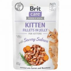 Brit Care Cat Kitten Filet Jelly Laks 85g