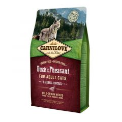 Carnilove Adult Cat Duck & Pheasant Hairball Control 2kg