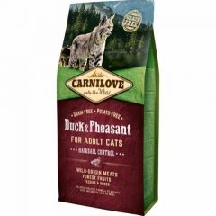 Carnilove Adult Cat Duck & Pheasant Hariball Control 6kg