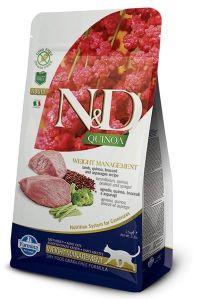 Farmina Cat N&D Quinoa Weight Management Lamb Adult 1,5kg