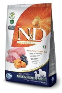 Farmina Dog N&D Pumpkin Lamb & Blueberry Adult Medium/Maxi Adult 2,5kg