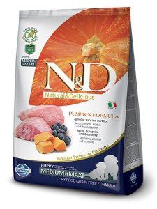 Farmina Dog N&D Pumpkin Lamb & Blueberry Puppy Medium/Maxi 2,5kg