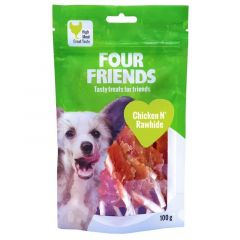 Four Friends kylling og råhud 100g