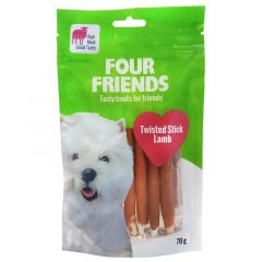 Four Friends Twisted Stick Lamb 12,5cm x 7stk