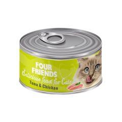 Four Friends våtfôr til katt tunfisk & kylling 85g