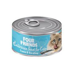 Four Friends våtfôr til katt tunfisk & sardiner 85g