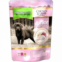 Natures Menu pouch Våtfor Junior Kylling & Lam 300g