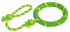 Hundeleke ring on a rope