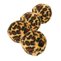 Katteleke Leopardballer 4 stk