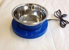Oppvarmet plate for vannskål