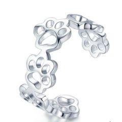 PetGems sølvring med poter