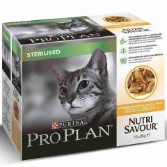 Pro Plan Cat Sterilised Chicken 10 pack
