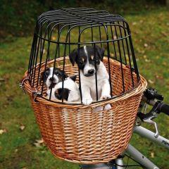 Sykkelkurv for hund flettet