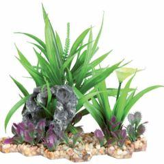 Plastik plante i grus 18cm