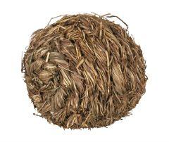 Flettet gressball med bjelle 10 cm