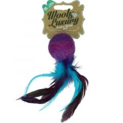 Wooly Luxury Feather Dream Ball Lilla