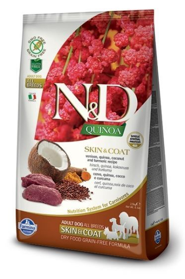 Farmina Dog N&D Quinoa Skin & Coat Venison Adult All Breeds 2,5kg