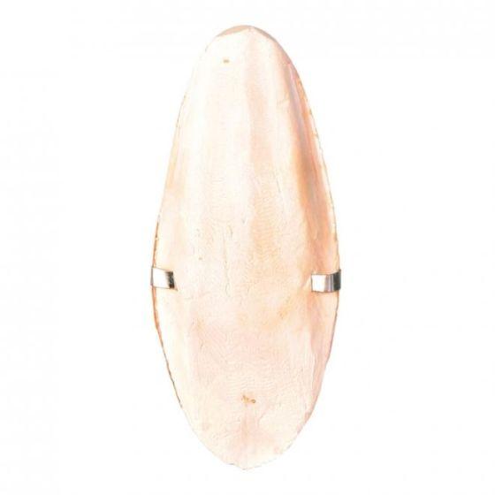 Sepiaskall med holder 12cm